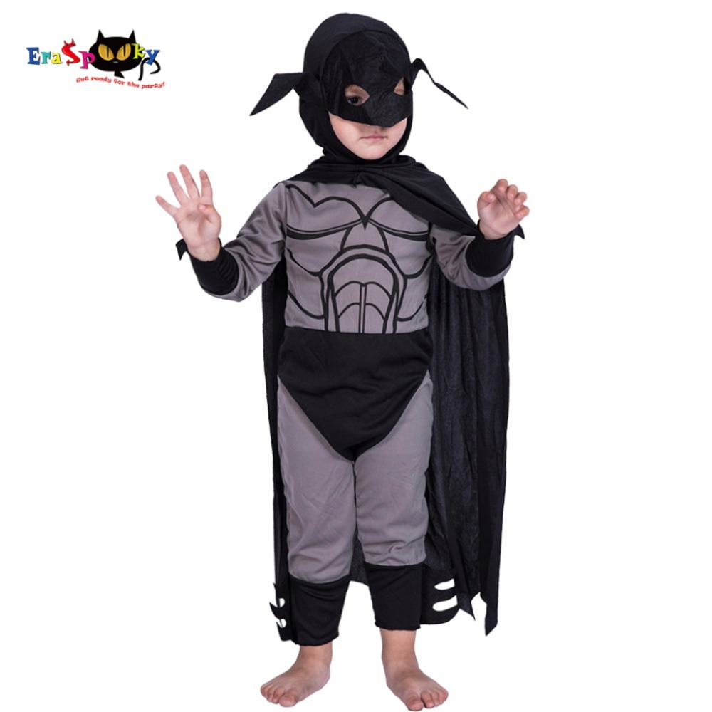2017 Superhero Halloween Costume For Kids Christmas Costume Carnival Costumes For Child Jumpsuit And Cloak Super Men Cosplay