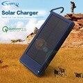 YFW 10000 mAh QC3.0 Rápido Cargador Solar Dual USB 2.1A Solar rápido de batería de la energía externa del banco de potencia para iphone y android dispositivos