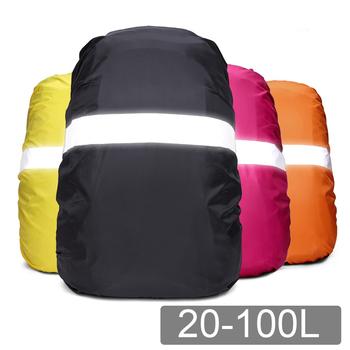 Pokrowiec przeciwdeszczowy plecak odblaskowy 20L 35L 40L 60L wodoodporna torba Camo Tactical Outdoor Camping piesze wycieczki wspinaczka pył Raincover tanie i dobre opinie NEWBOLER CN (pochodzenie) rain cover backpack Reflective 20L 30L 35L 40L 50L 60L Unisex Waterproof Rain Bag Cover Miękka
