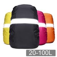 Mochila impermeable reflectante para exteriores, bolsa de camuflaje táctica para acampar al aire libre, senderismo, escalada, antipolvo, 20L, 35L, 40L, 50L, 60L