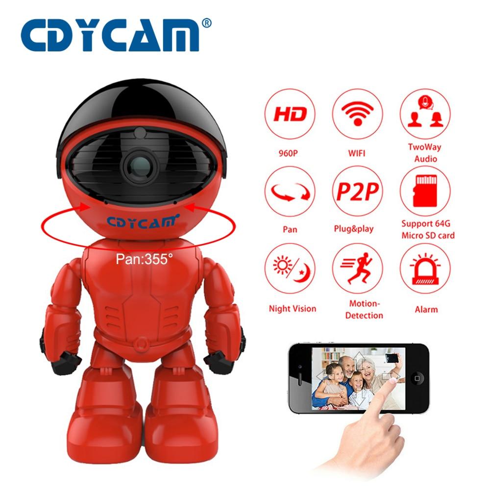 где купить CDYCAM 960P 1.3MP HD Wireless IP Camera wi-fi Robot camera Wifi Night Vision Camera IP Network Camera CCTV support two-way audio по лучшей цене