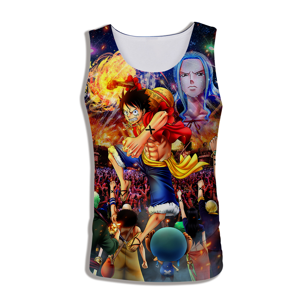 2019 Mens Casual Vest 3d Print Japan Anime ONE PIECE Luffy   Tank     Top   For Men Summer Sleeveless Tees Funny Streetwear Dropshipping