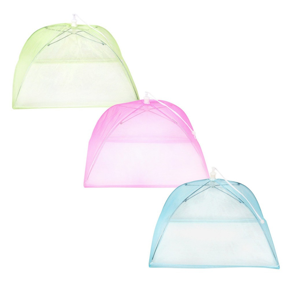 Fly Eagle Set of 3 Colors choose Pop Up Mesh Dome Food Cover Tents Umbrella