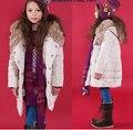 Детская Одежда дети зимний пуховик Высокого Качества теплое пальто для девочек девушки пуховик детей куртка