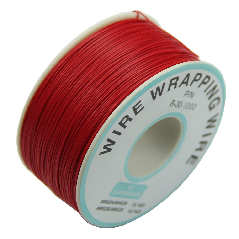 0.25mm Wire Wrapping Wire 30AWG Cable 305m New (Red)-in Wires ...