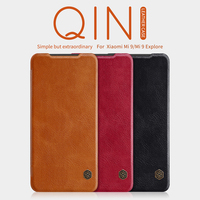 For xiaomi mi9 Case For xiaomi mi 9 Cover Original Nillkin QIN Series Flip Leather wallet Case Cover with Card Pocket