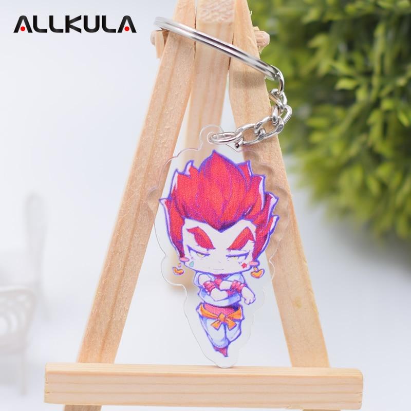 Hunter X Hunter Action Figure Keychain Double Sided Hisoka Movie TV Peripherals Cute Cartoon Key Chains AKL04