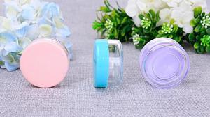 Image 5 - 10pcs/lot 10g/15g/20g Empty Plastic Makeup Nail Art Bead Storage Container Portable Cosmetic Cream Jar Pot Box Round Bottle