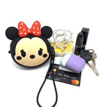 Q UNCLE Headphone Bag 3D Cartoon Portable Mini Round Hard Storage for Key Card USB Cable