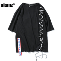 Aismz 2018 גברים חולצות רחב מימדים חולצות t האחרון מודפס חולצות t בגדי היפ הופ אופנה אורבאנית בגדי סקייטבורד