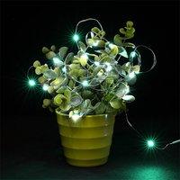 10 шт. зеленый светодиодный света высокоэффективных 10 м 100 светодиодный 3AA Батарея серебряной проволоки декоративный свет String