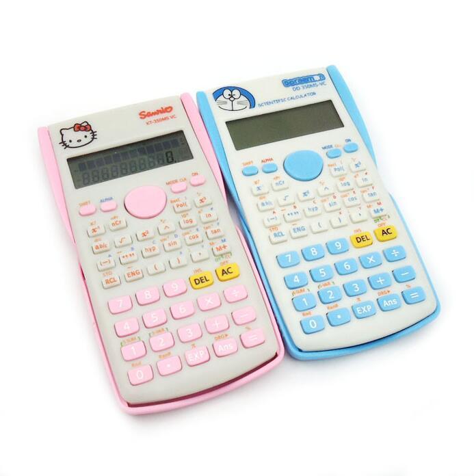 Электронный научный калькулятор Функция для студентов двойной Мощность розовый рисунок «Hello Kitty» Calculadora научный калькулятор инструмент под...