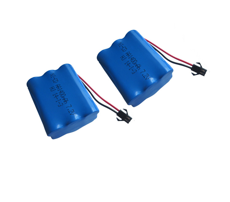 2pack 7.2v 1400mah ni-cd battery aa 7.2v rechargeable battery pack 1.2v 1400mah batteries not nimh for cars 7.2v RC boat toy