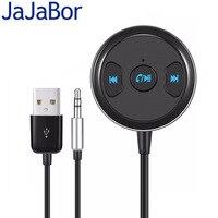 JaJaBor Bluetooth автомобильный комплект громкой связи вызов AUX 3,5 мм музыкальный аудио плеер Bluetooth аудио адаптер музыкальный приемник с USB мощность