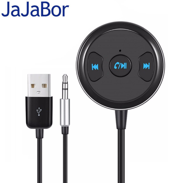 JaJaBor Bluetooth Car Kit Handsfree Calling AUX 3.5MM Music Audio Player Bluetooth Audio Adapter Music Receiver with USB Power