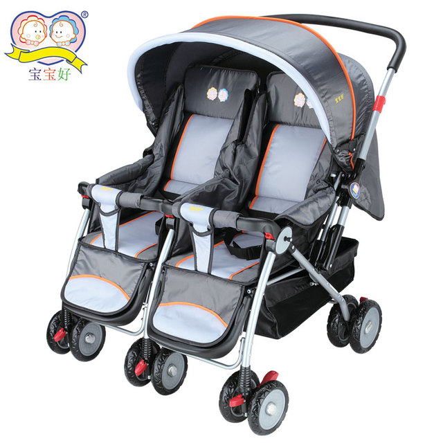 703r luxury twins baby stroller two-way cart baby stroller double stroller