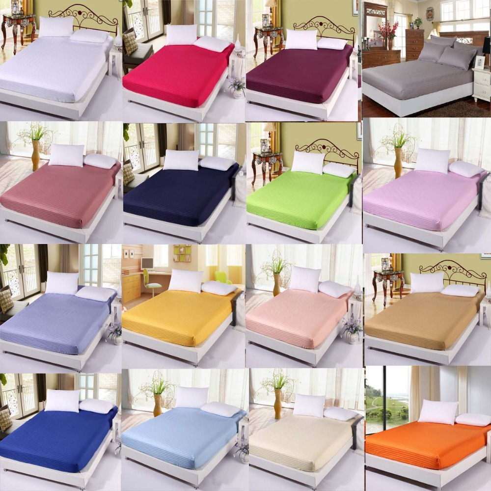 Bed Sheet /Mattress Cover/Mattress Protector/Fitted Sheet/ Cotton Bed Sheets/Twin  /Full/ Queen Size/fitted Sheet Cheap Bedding In Mattress Covers U0026 Grippers  ...