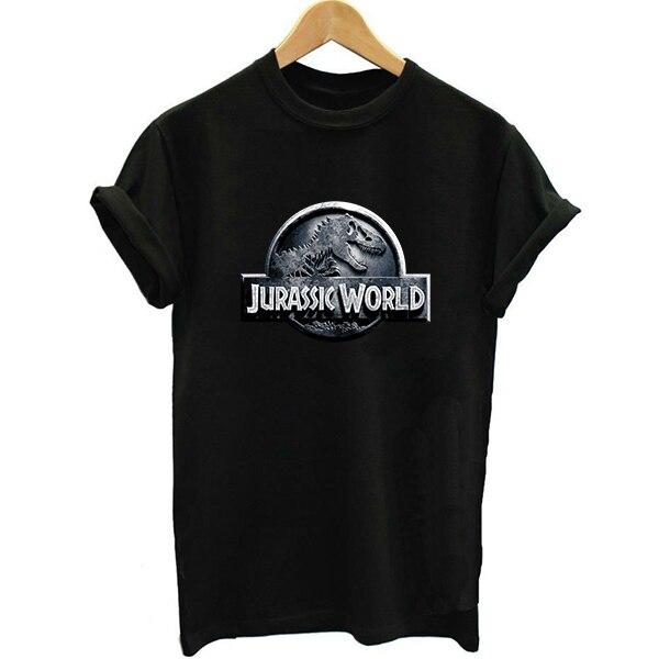 2018 Solid Color t shirt women jurassic world tshirt park white t-shirt woman tops tee shirt femme punk plus size girl vogue top