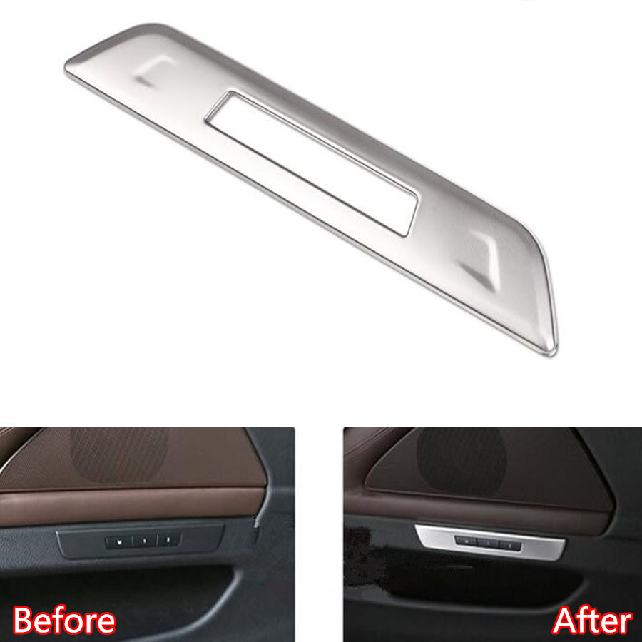 YAQUICKA Car Interior Door Seat Memory Button Switch Decoration Frame Trim Cover Sticker For BMW 5 Series F10 2011-2014 Styling chrome 3pcs interior head light lamp switch button cover trim for bmw 5 series f10 2011 2012 2013 2014 car styling