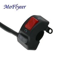 MoFlyeer 12V Motorcycle Switches 7/8 22mm Handlebar Mount Headlight Fog Light Horn ON OFF Start Kill Switch