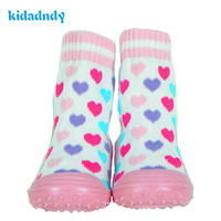 Cotton Baby Socks Newborn Toddler Indoor Floor Shoes Infant Socks Anti Slip Baby Socks With Rubber