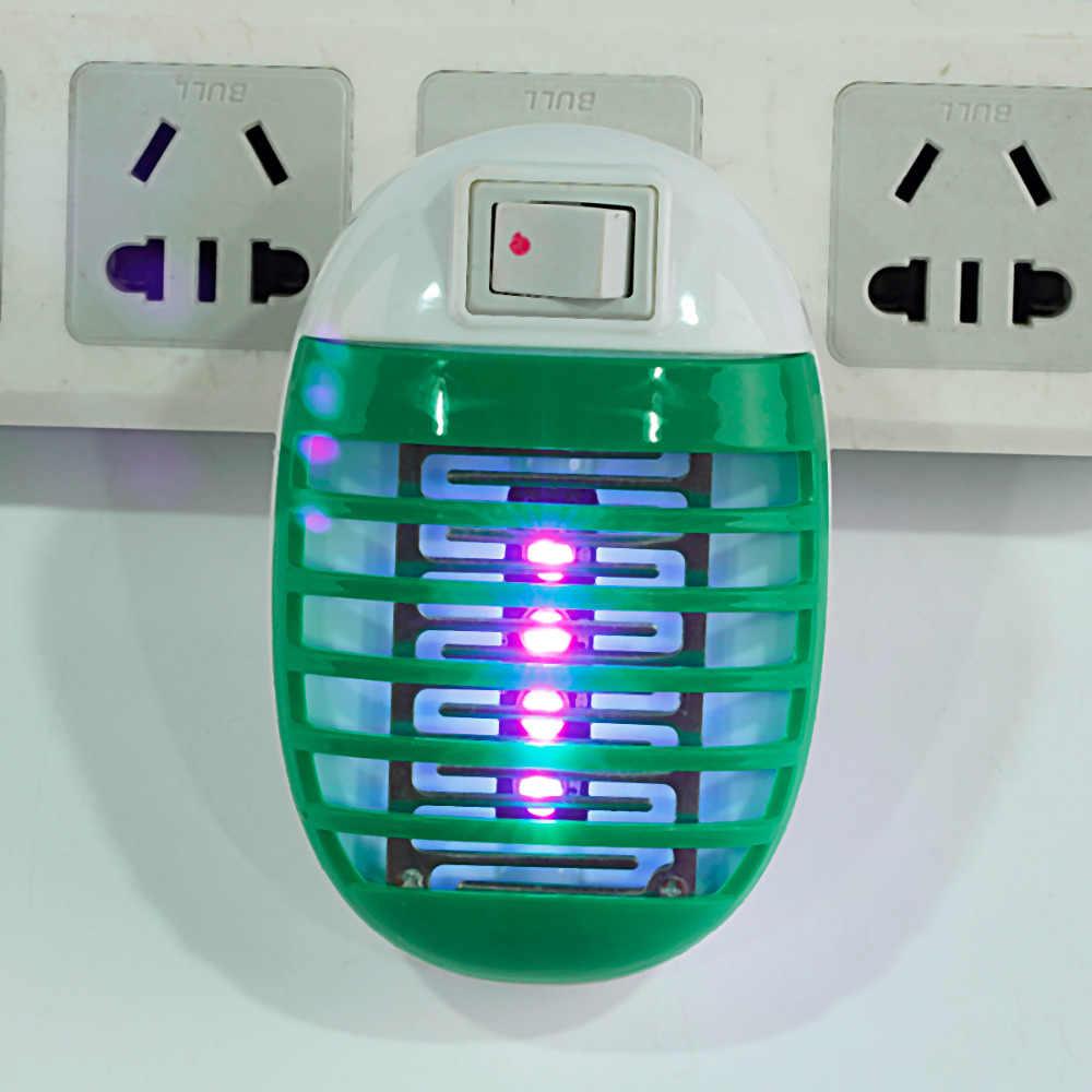 220V soket elektrikli Mini sivrisinek lamba LED sivrisinek kovucu öldürme sinek Bug böcek tuzak gece lambası Killer Zapper