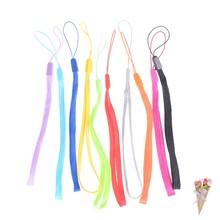 18cm wrist hand cell phone mobile chain straps keychain Charm Cords DIY Hang Rope Lanyard neck Random Color 10 Wrist Straps(China)