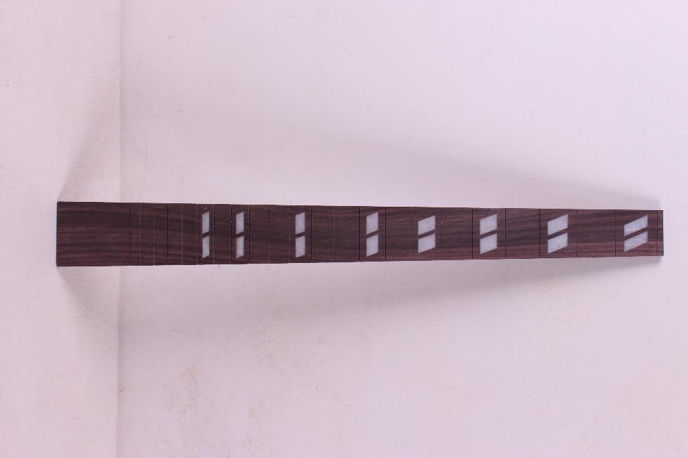 2pcs 기타 Fretboard 24.75 인치 628mm 지판 Fretless 기타 부품 좋은 상감 장미 나무 # 51