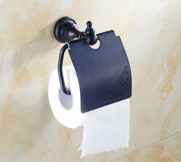 Dona support papier multifonctionnel porte-serviettes porte-papier hygiénique rouleau porte-papier en laiton noir support de papier 7821