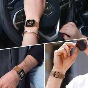 Image 5 - سوار ساعة من الجلد من MAIKES لساعة Apple 44 مللي متر 40 مللي متر/42 مللي متر 38 مللي متر سلسلة 4 3 2 1 أربطة ساعات iWatch سوار ساعة Apple