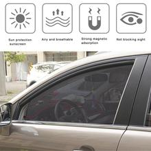 Summer Zonnescherm Auto Achterruit Hickened Mesh Car Sun Shade Protection Window Mesh Sun Visor Magnetic Curtain Parasol Coche