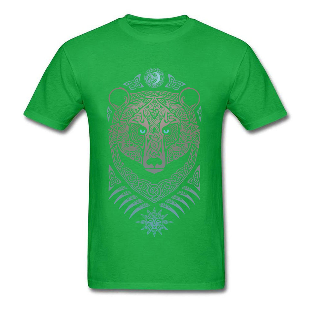 FOREST LORD Printed On Thanksgiving Day Pure Cotton Crew Neck Mens Tops & Tees Summer T-shirts 2018 Short Sleeve Top T-shirts FOREST LORD green