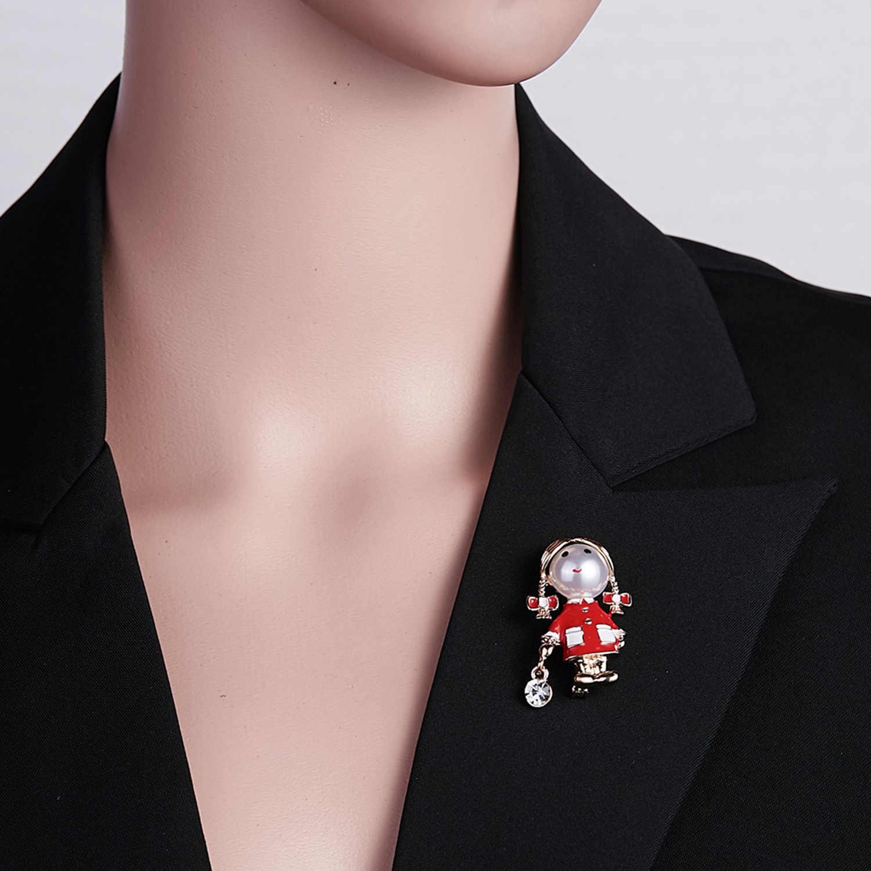 Rinhoo Piccola Ragazza Carina Spille per Le Donne Opale e Strass Spilla Spille Argento di Colore del Cappotto del Vestito Accessori del Regalo di Modo