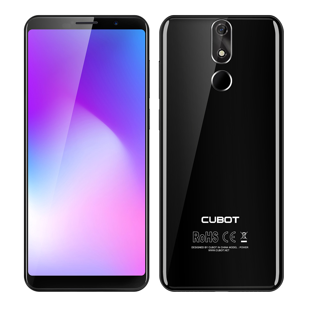 CUBOT POWER 4G Smartphone original para Android 8.1 OS 5.99 Inch Phablet MTK6763T Octa Core 2.5GHz 6GB RAM 128GB ROM 6000mAh Batería