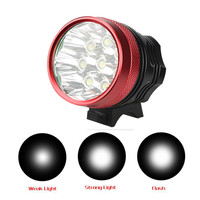ISHOWTIENDA Usb Rechargeable Bike Light Front Handlebar 18000LM 8 x CREE XM L T6 LED 6 x 18650 Bicycle Light Waterproof Lamp