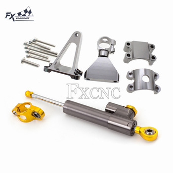 цена на CNC Motorcycle Stabilizer Steering Damper Mounting Bracket Support Kit For Honda CBR600 F4i CBR 600 1999-2004 2000 2001 2002