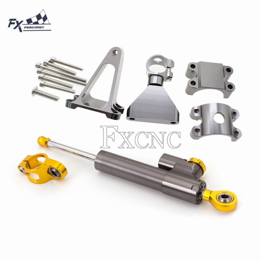 CNC moto stabilisateur direction amortisseur Support Support Kit pour Honda CBR600 F4i CBR 600 1999-2004 2000 2001 2002