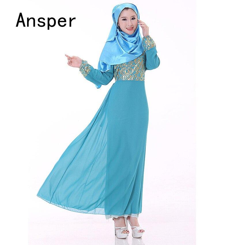 Or Longue Robe Islamique Femmes Musulmanes Abaya Arabe Jilbabs Robe Femmes  Kurtas Bronzage dans Islamique Vêtements de Nouveauté   Usage Spécial sur  ... a0ad1d761c5