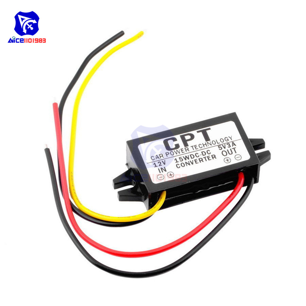 DC/DC Buck Converter Regulator 12V to 5V 3A 15W Car Monitor Power Supply-in Integrated Circuits from Electronic Components & Supplies
