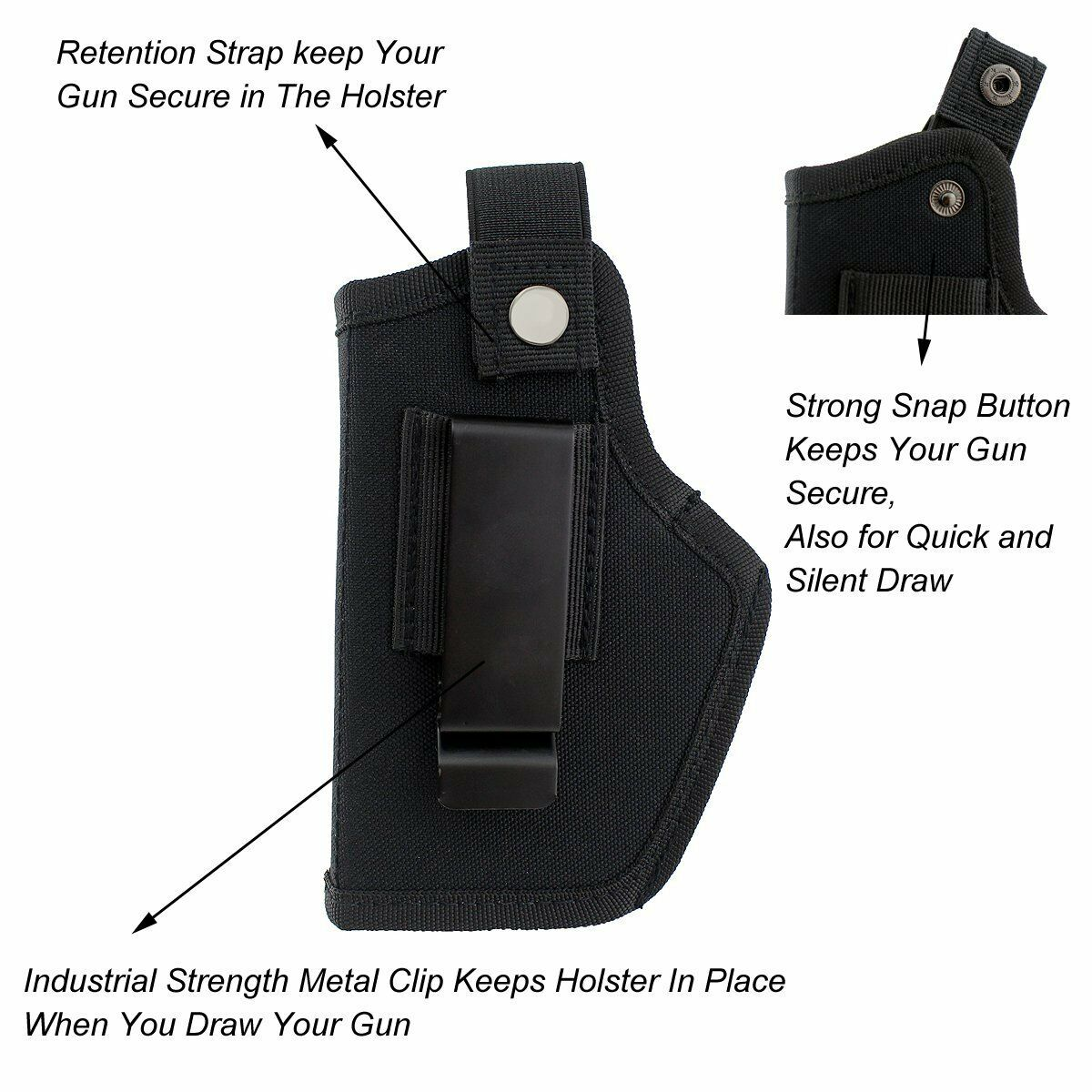 Image 5 - Hunting Concealed Carry gun Holsters with Metal Clip IWB OWB Holster Bag For All Sizes Handguns-in Holsters from Sports & Entertainment