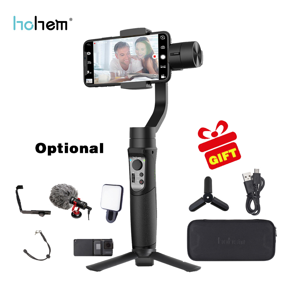 Hohem iSteady Mobile 3-Axis Handheld Gimbal Stabilizer for Gopro sjcam action camera iPhone SamsungPK smooth 4 vimble 2 DJI OSMO fpv 3 axis cnc metal brushless gimbal with controller for dji phantom camera drone for gopro 3 4 action sport camera only 180g