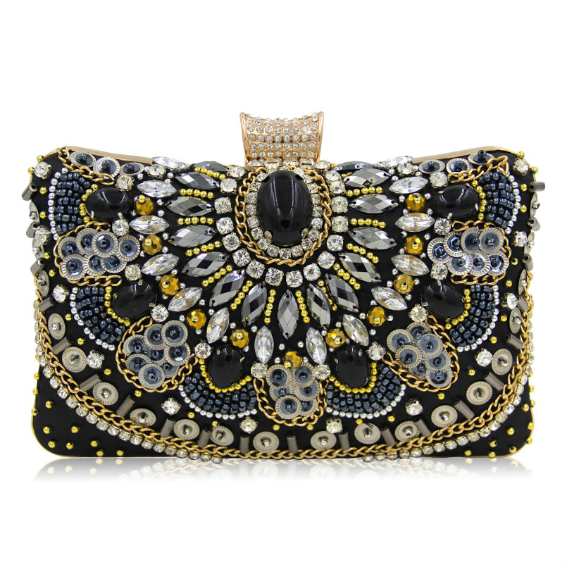 New Fashion Women Luxury Evening Bags Wedding Clutch Purse Sisters Party Bag Diamonds Silver Gold Black Good Quality Bag Sg140 tentop a new style women s peacock evening clutch bags purse print dot clutch handbag black gold silver party dinner purse 1802k
