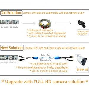 Image 4 - Адаптер Pripaso BNC для RJ45, 4 пары, Пассивный, с питанием, Full HD, 1080P 5MP, камера видеонаблюдения, кабель Ethernet