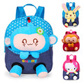 2016 New Cute Bear School Bags Children Backpack Canvas Cartoon Doll Bear Children School Bags for Kids Backpack BB44