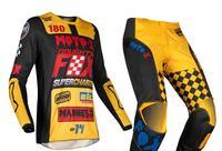 2019 Motocross Gear Set Top MX ATV BMX Moto Jersey and Pants long Sleeve Racing Motorcycle Suit
