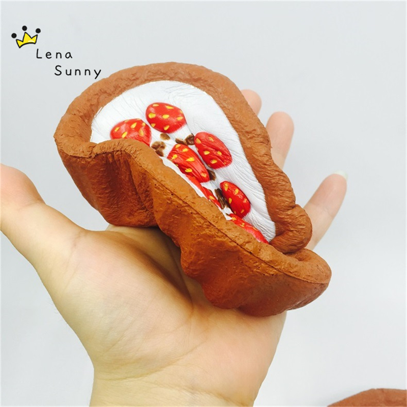 10PC/Lot 12CM Kawaii Squishy Strawberry Cream Cake Super Slow Rising Scented Squeeze Fun Gift Toy
