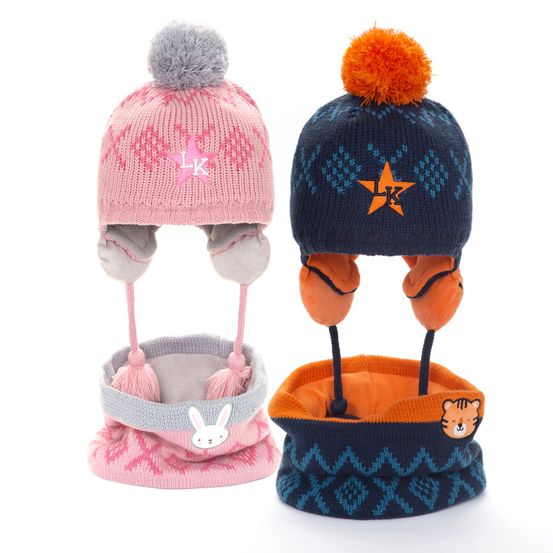 2019 Kocotree Kids Winter Hat Scarf Set For Children Warm Winter Beanies Knitted Hat 2-5 Years Old Boys  And Girls