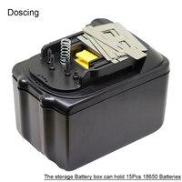Bl1860 bateria de broca elétrica caso plástico pcb placa de circuito de proteção de carregamento para makita bl1845 bl1860 li-ion bateria
