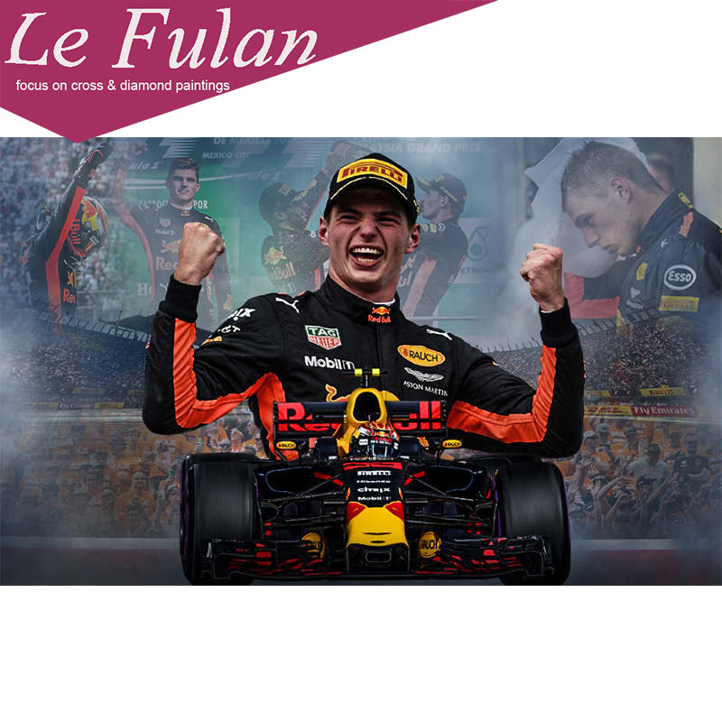 Le Fulan Formula 1 formule racing car Diamond Painting Daimond Paintings Racing champion Diamant Embroidery Decor Cross Stitch