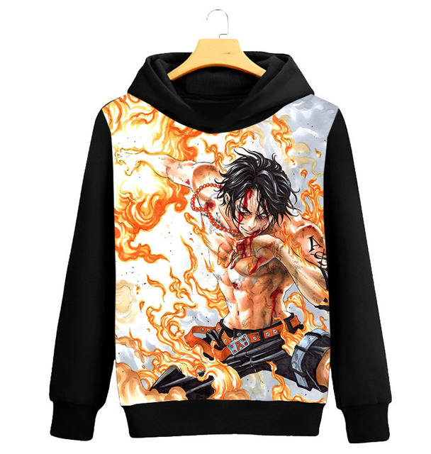 3D ONE PIECE THEMED HOODIE (14 VARIAN)